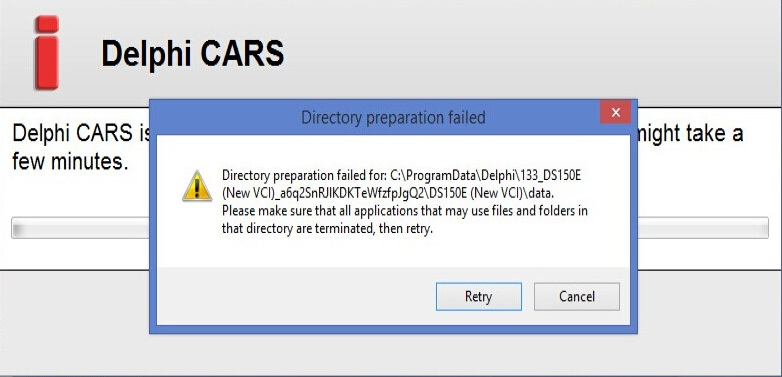 Directly preparation failed